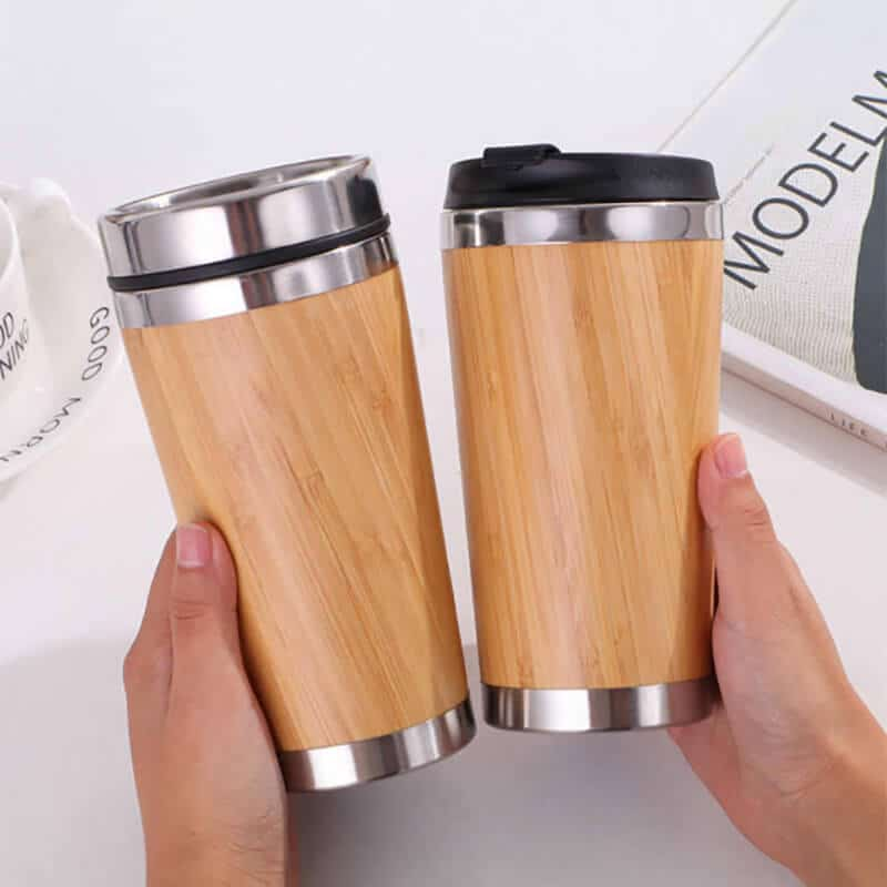 15 ounce bamboo insulated tumbler