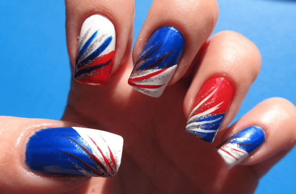 artificial 4th of July Nails