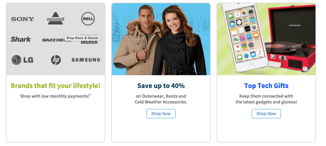 Top brands, clothing and tech gift offers from fingerhut.com