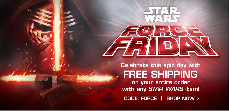DisneyStore:  FREE Shipping With Star Wars Purchase Today Only + 3% Cash Back