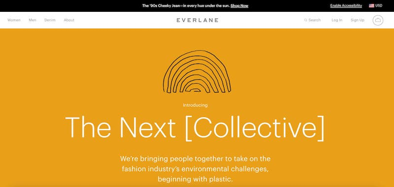 Everlane No Plastic - Brands That Give Back