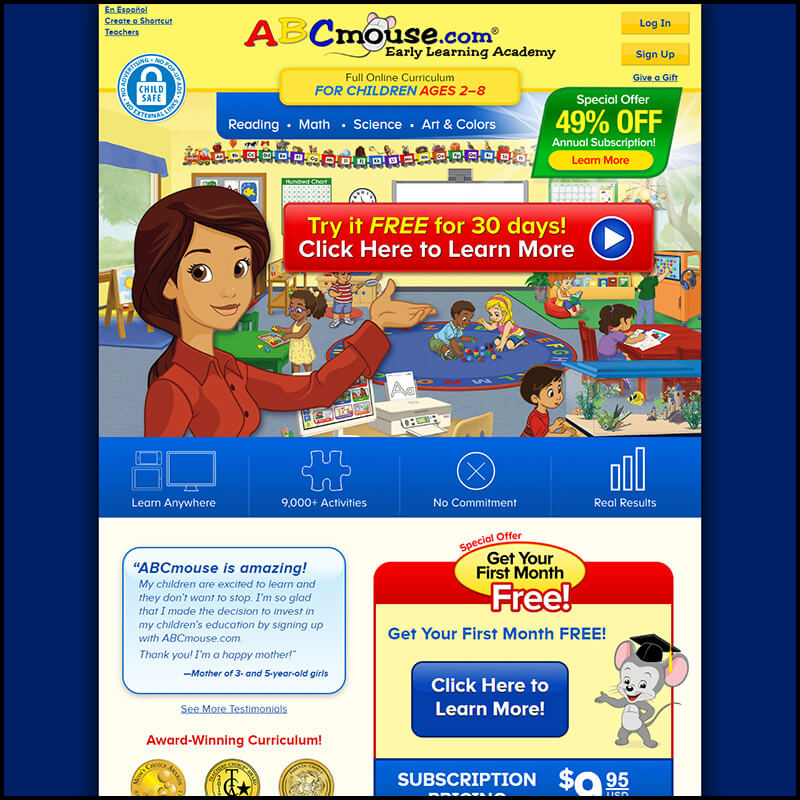 abc mouse home page