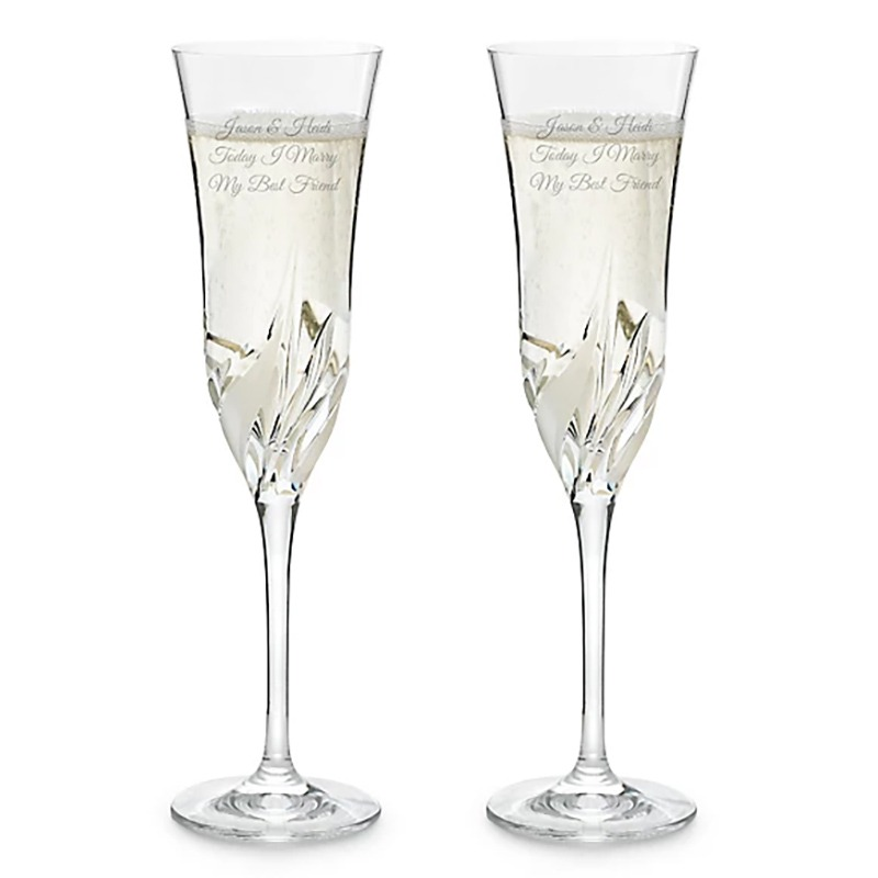 Lovely set of toasting champagne flutes
