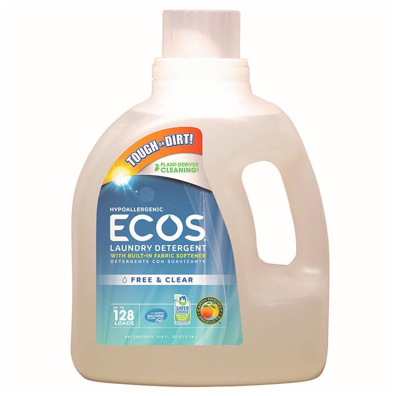 Hypoallergenic Ecos Laundry Detergent with Built in Fabric Softener