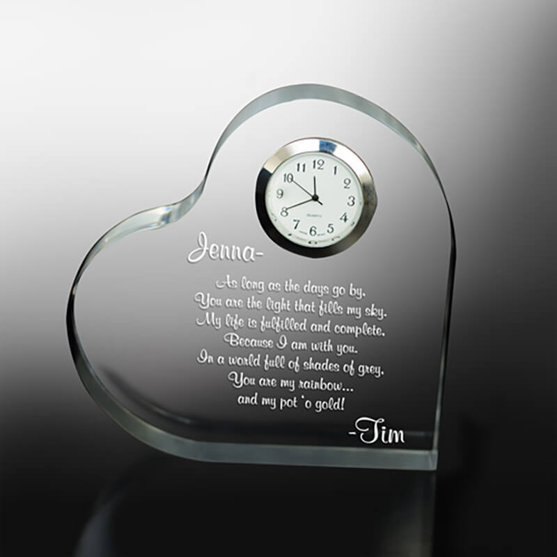 Personalize silver edged timepiece