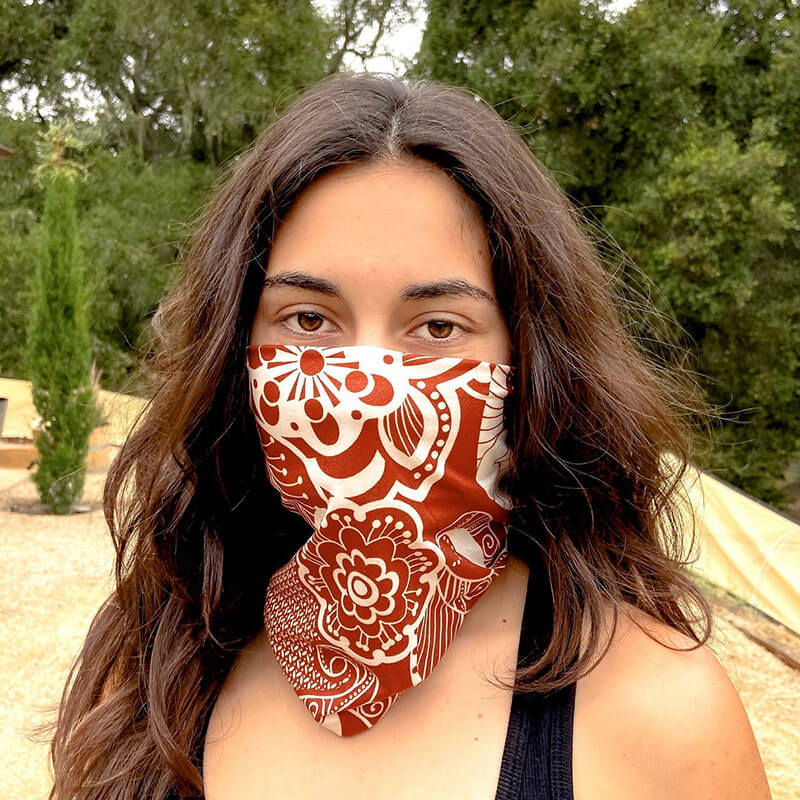 Made in USA bandana face scarf