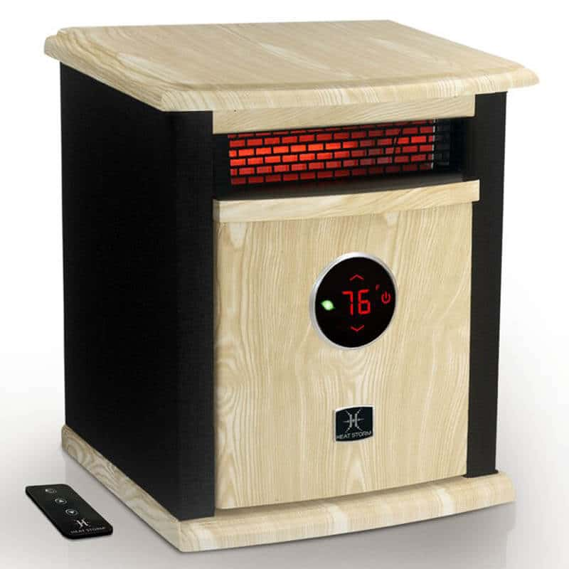 Stylish wood cabinet Heat Storm Electric Infrared Cabinet Heater