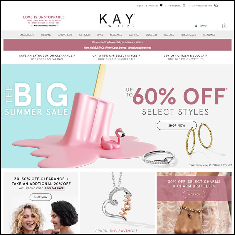 Kay Jewelers July black Friday sales