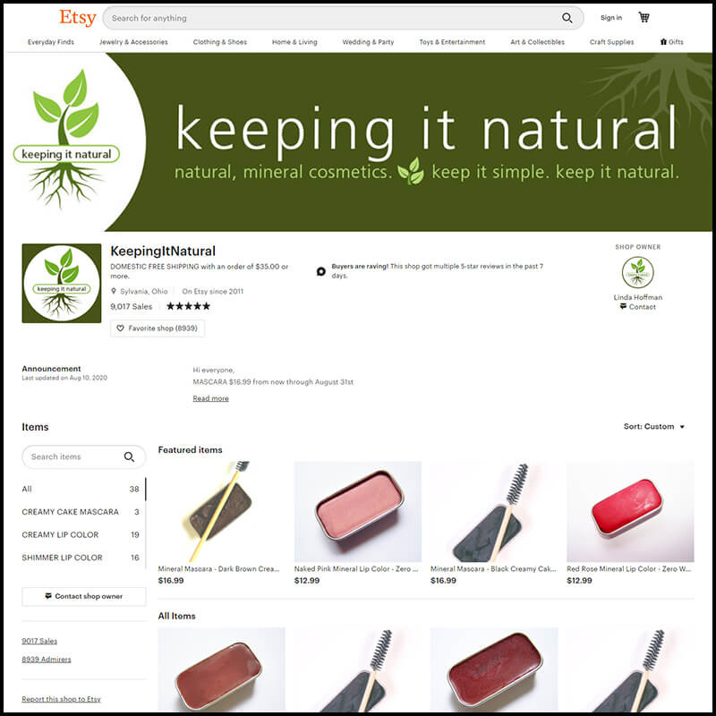 Keeping It Natural powered by Etsy