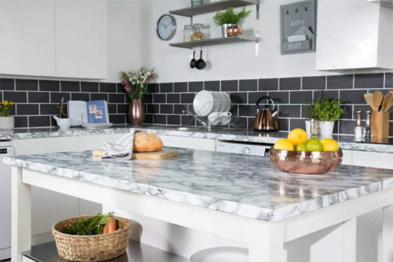 Marble white self adhesive vynyle paper for your desk and cabinets