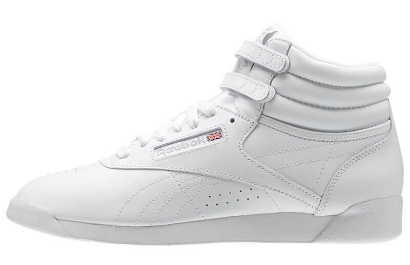 White reebok athletic shoe
