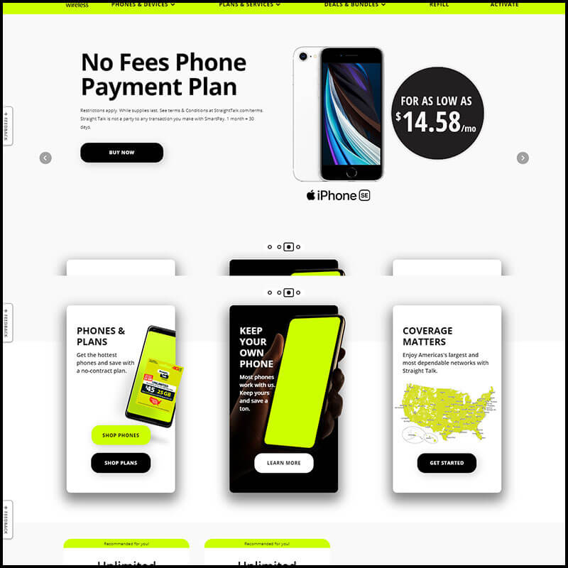 Straight Talk Wireless saving deal page