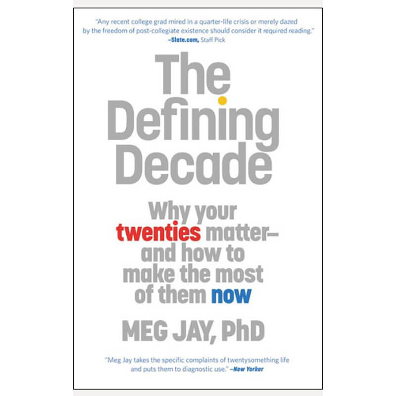 Book title The Defining Decade