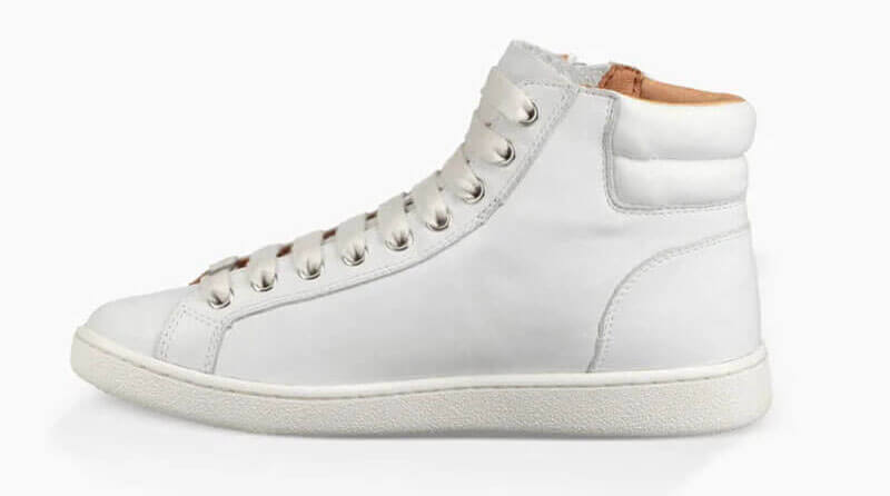 White high top designer sneakers from UGG